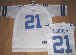 New Reebok Dallas Cowboys Jones Jersey On Field Nfl L Large Lrg Football White - $32.71