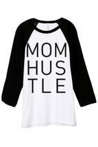 Thread Tank Mom Hustle Unisex 3/4 Sleeves Baseball Raglan T-Shirt Tee White Blac - $24.99+