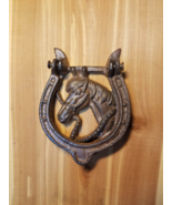 Cast Iron HorseShoe Door Knocker Horse Shoe Western - $14.84