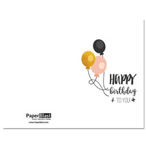 Three Balloons Birthday Card --- with Custom Handwritten Message - mailed to ... - $2.23