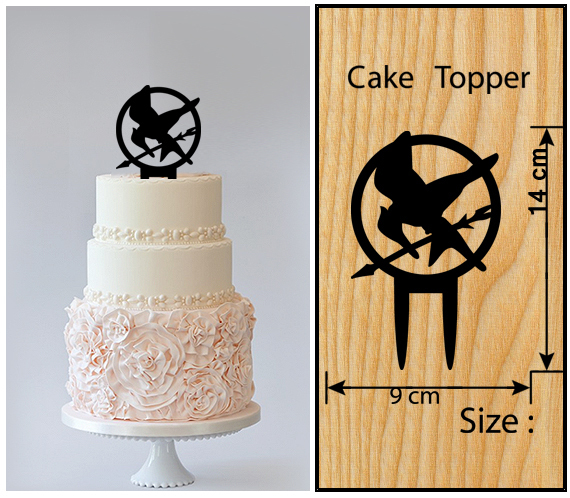 Wedding,Birthday Cake topper,Cupcake topper,silhouette The Hunger Games : 11 pcs