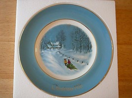 AVON 1976 Bringing Home The Tree 3 Edition Christmas Plate Enoch Wedgwoo... - $6.79
