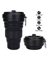 Folding Silicone Cup Travel Water Portable Silica Collapsible 550ml Coff... - $22.89