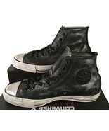 Converse John Varvatos Chuck Taylor Sneakers Painted Shine Black/Silver ... - $89.95