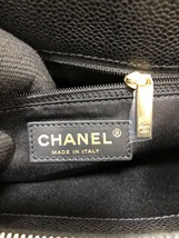 AUTH CHANEL QUILTED CAVIAR GST GRAND SHOPPING TOTE BAG GOLD HW image 8