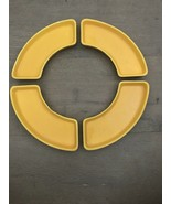 4 Fiesta Fiestaware YELLOW Relish Tray  Side Inserts - $80.00