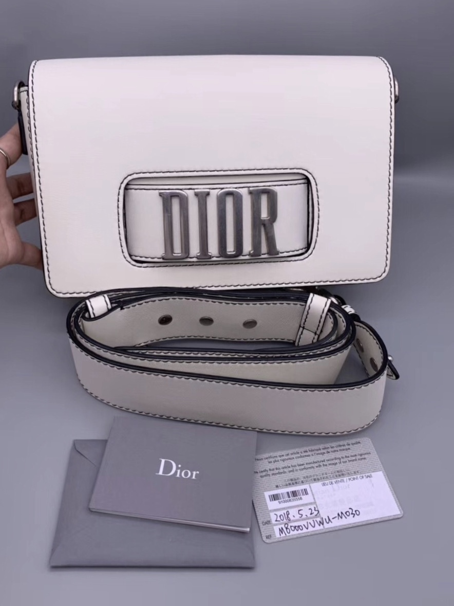 100% Authentic Christian Dior 2018 DIOR CLUTCH STRAP SHOULDER BAG SHW RARE