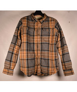 Burton Dryride Flannel Fleece Lined Buttonup Kids Boys Plaid Deep Pile S... - $29.70