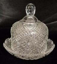 Vintage Avon Fostoria Covered Diamond Point Butter/Cheese Dish (circa 19... - $18.00