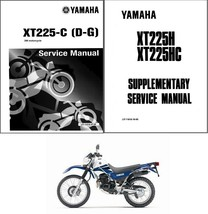 1986-2007 Yamaha XT225 Service Manual on a CD   --   XT 225 - $12.99