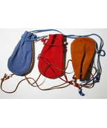 "American Made! Two Toned 3x5"" Medicine Bags Leather Baby Soft, Crow Beads - $15.95"