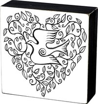 Primitives by Kathy Color Sign - Dove Heart - $18.64