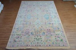 8x10 Indo Oshak Top Vintage Newzealand wool Handmade Knotted Area Rug Ca... - $1,399.00