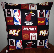 Miami Heat Pillow Miami Pillow NBA Handmade in USA - $9.97