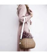 2019 women braid big bag Mamachari Bag Handwoven Rattan Beach big Straw ... - $41.00