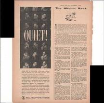 Bell Telephone System Quiet! Noise Test In Progress Scientists 1959 Vint... - $3.25