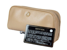 Authentic CHANEL Leather Beige Pouch Bag CP1078 - $249.00
