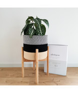 Decorative Indoor Planters| Tall Wooden Plant Stand or Cotton Plant Pot ... - $28.00+