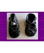 "Doll Black Patent SHOES for 14"" to 18"" Dolls Bears New 1998 Vintage Acce... - $12.99"