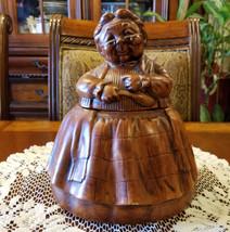 Vintage Grandma Baking Cookies Cookie Jar Hand Painted 1970's Cookie Jar - $49.99