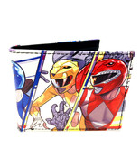 POWER RANGERS TEAM POSE GROUP PHOTO SUBLIMATED GRAPHIC PRINT MENS BIFOLD... - $18.95