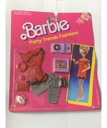Barbie Party Trends Fashions No 715-2 On Card Vintage 1989 NRFP Outfit - $25.00