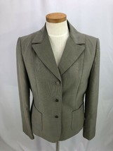 Calvin Klein Womens Gray Career Business Blazer Jacket Metal Buttons 6 - $27.95