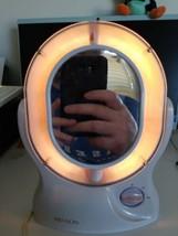 REVLON Tilting 2-Side Lighted Makeup Cosmetic Vanity Mirror 1x 5x Magnify RV-965 - $39.03