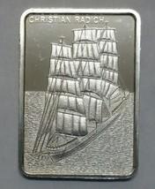 Christian Radich Silver art ingot bar Colonial Mint Lot# N 513