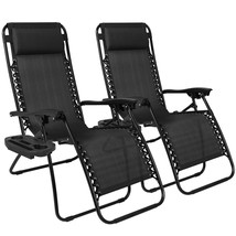 Zero Gravity Black Lounge Patio Chairs Utility ... - $93.49