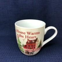Christmas Holiday Fitz and Floyd Home Warms the Heart Coffee Mug Tea Cup  - $23.74