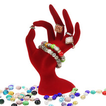 1Pcs Black/Red Velvet Jewelry Display Stand Ring Bracelet Necklace Hangi... - $67.96