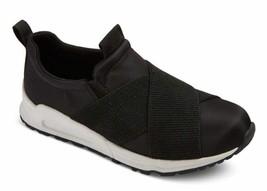 Brand New Girls Stevies #RUN4IT Childrens Kids Elastic Black Jogger Sneakers image 1