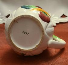 "Vintage LEFTON'S Japan small CREAMER milk/syrup Veggie design 1297 3 1/2"" tall image 2"
