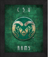"Colorado State Rams ""Retro College Logo Map"" 13 x 16 Framed Print  - $39.95"