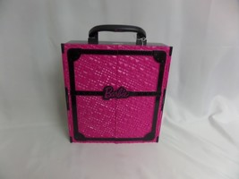 BARBIE PINK AND BLACK GLAM CLOSET CARRY CASE 2011 PRE-OWNED - $18.70