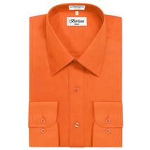 Berlioni Italy Men's Classic Standard Convertible Cuff Dress Shirt - 2XL