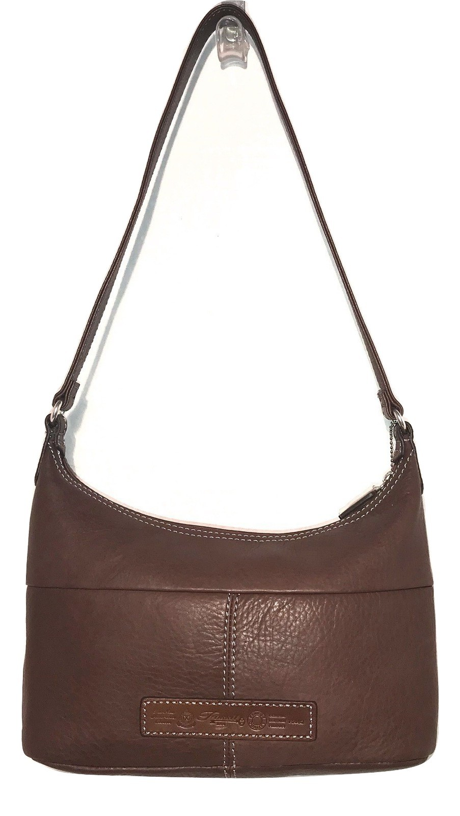 Fossil ~ Soft Brown Pebble Leather Shoulder Bag w/ Flap Pocket Front