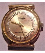 Vintage Hormilton Electra 21 Gold-Tone Watch w/Crystals Swiss Parts or R... - $39.95