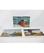 Train Art Prints W. H. Miner Inc. Chicago Railroad Trains 1960's (3) - $39.00