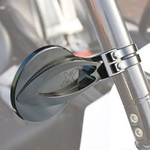 "Axia Alloys Round Convex Side Mirror Kit 4"" Black for Yamaha Viking 700 FI 4x4 2 - $99.23"