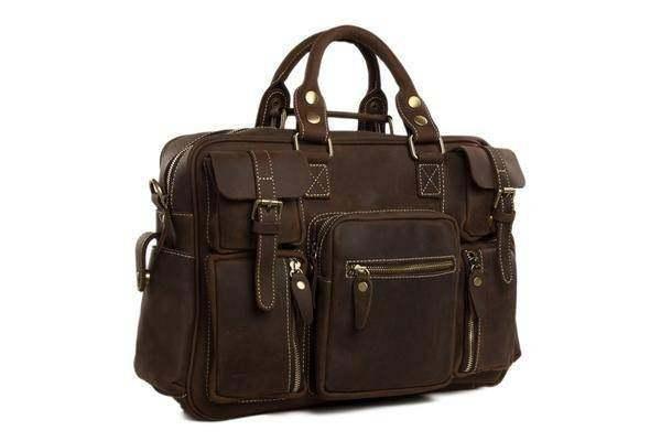 On Sale, Natural Leather Men's Travel Bag, Laptop Bag, Men Leather Briefcase image 2