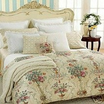 Ralph Lauren Villandry Floral Stripe Queen Flat Sheet Cotton Sateen T450... - $118.80