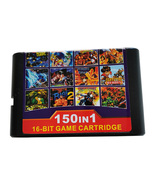150 in 1 Game Cartridge 16 bit Game Card for Sega Mega Drive Genesis Con... - $25.90