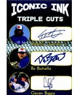 Vlad Guerrero Jr. Bo Bichette Cavan Biggio Iconic Ink Triple fasc auto B... - $5.94