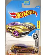 2017 Hot Wheels #341 Super Chromes 3/10 GAZELLA GT Gold w/Purple 5 Spoke... - $5.94