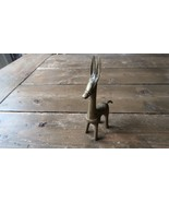 """Antique Primitive Brass LLAMA Kids Toy Figure Figurine 6"""" Tall - $108.90"""