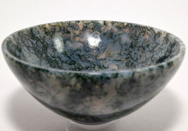 "3.9"" Green White Blue Moss Agate Bowl Natural Stunning Crystal Mineral C... - $59.95"