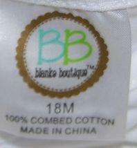 Blanks Boutique White Long Sleeve Empire Waist Ruffle Dress Size 18M image 6