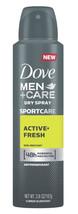 Dove Men+Care Sport Dry Spray Antiperspirant Deodorant Active+Fresh 3.8 oz  - $9.95